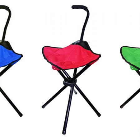 4 Legs Folding Camping Chair - Red