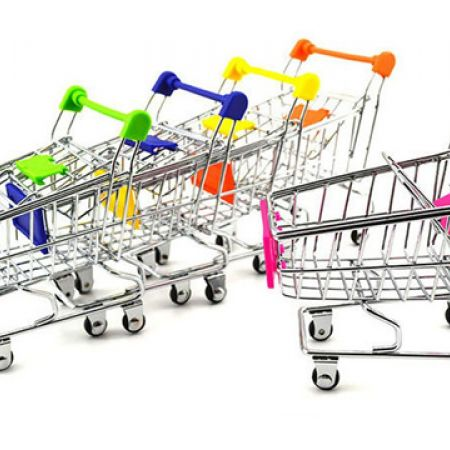 Mini Shopping Cart Trolley Toy - Blue