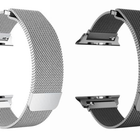 Stainless Steel Mesh Apple Watch Band For 42 and 44 mm - Black