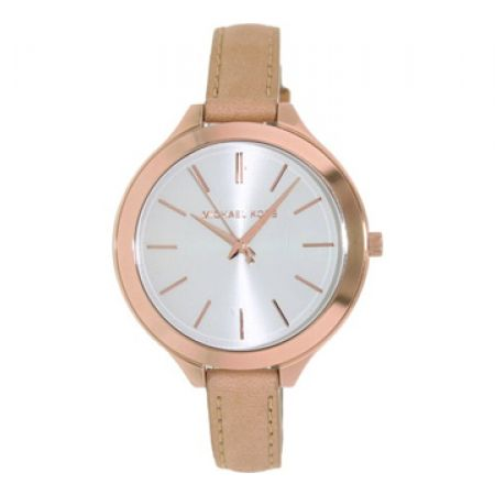 Michael Kors Mid-Size Runway Rose Gold-tone Round Watch For Women