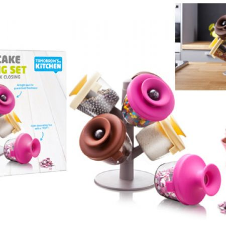 Tomorrow's Kitchen Popsome Cake Decorating Set With Stand 9 Pcs