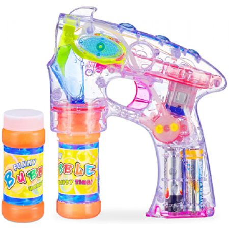 Led Soap Bubble Gun With 2 Liquid Soap 50 ml