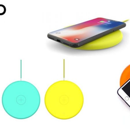 Philo Wireless Rubber Coated Charging Pad With 1.5 m Usb Nylon Braided Cable - Orange