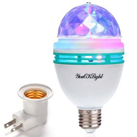 Rotating Led Strobe Bulb Stage Light