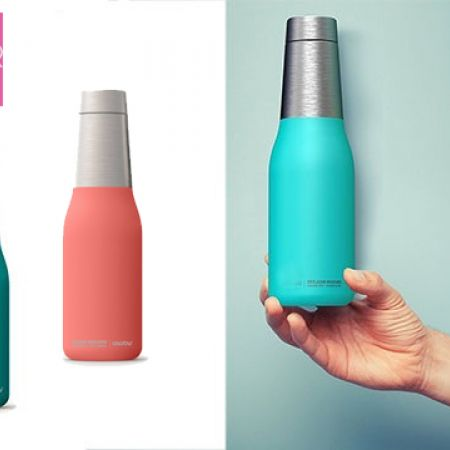 Asobu Oasis Vacuum Insulated Double Walled Water Bottle 600 ml - Peach