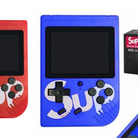 400 In 1 Games Sup Game Box Pocket Handheld Game Console 3.0 inch - Blue