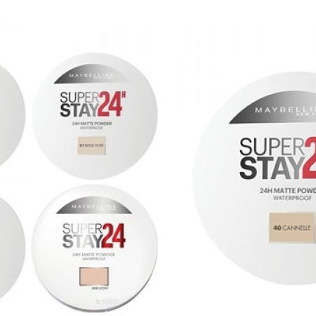 Maybelline New York Super Stay 24H Waterproof Compact Powder - 01 Ivory