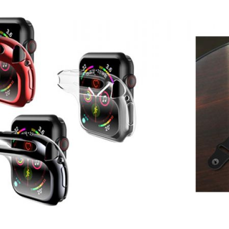 Usams 360 ??Full Protective TPU Soft Case Cover For Apple Watch 40-44 mm - Transparent