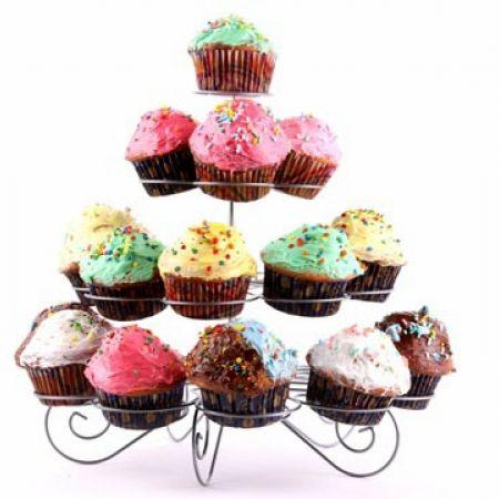 Cupcake Multi-Tiered Metal Cupcake Stand 15 x 6 x 15 inch
