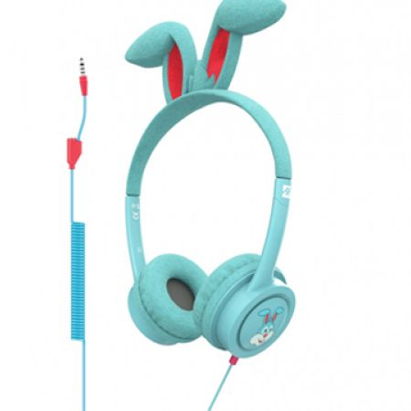 iFrogz Little Rockerz Costume Headphone With Buddy Jack & Coiled Cable FG-Bunny