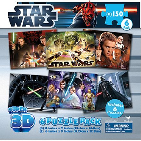 Cardinal 6 In 1 Star Wars Super 3D Puzzles