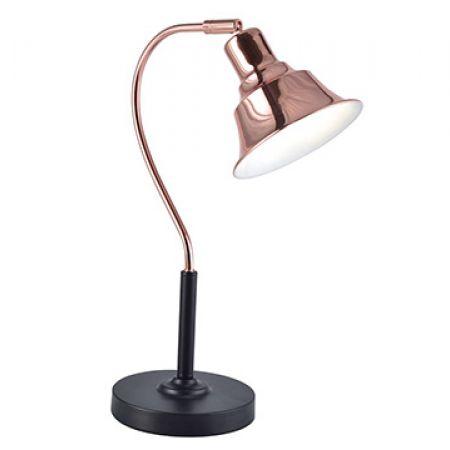 Metal Table Lamp Rose Gold Black Makhsoom